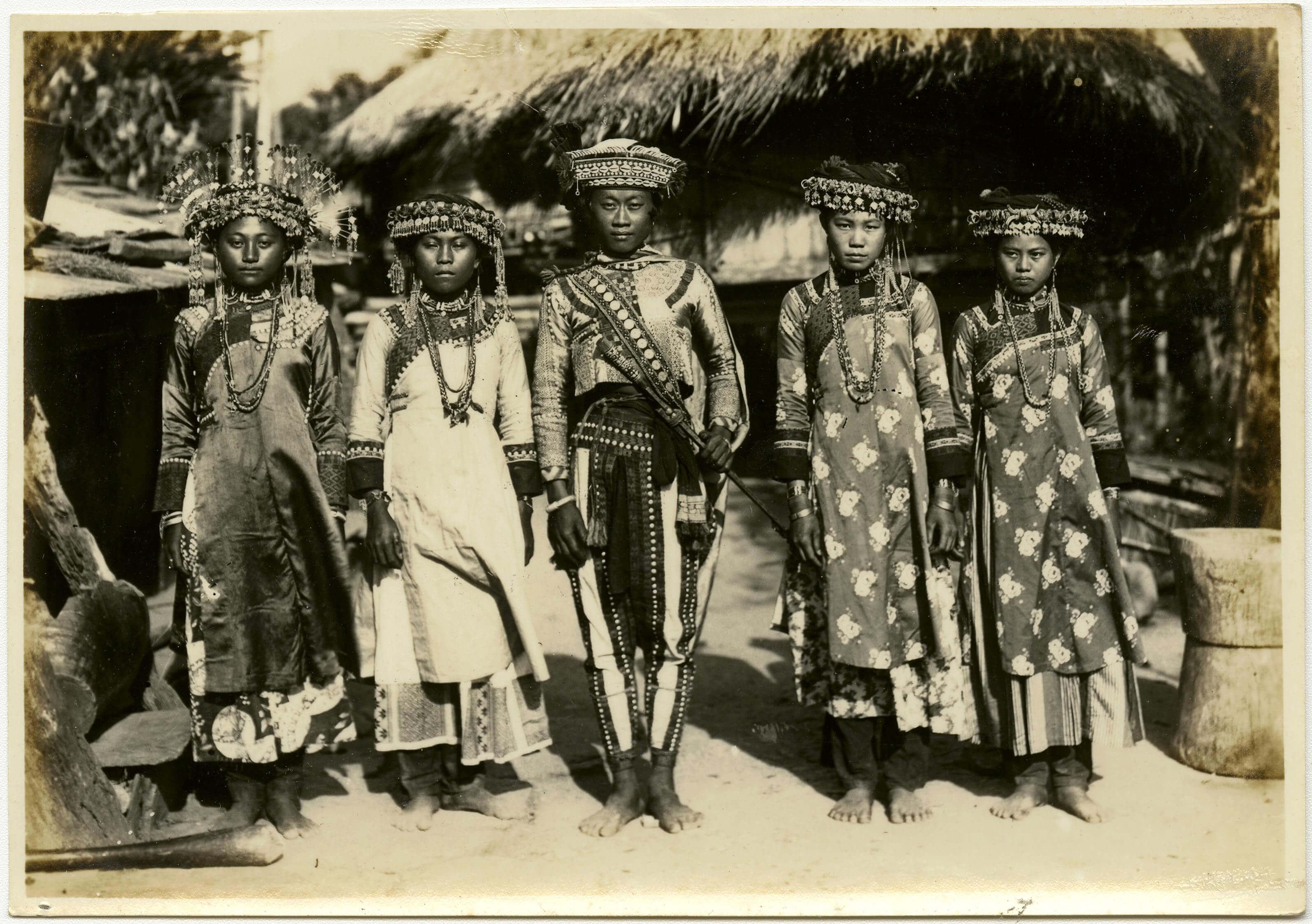 The Paiwan Youth Wearing Formal Costume