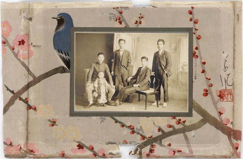 1923 大正12年攝影 (四男子與幼童合照)