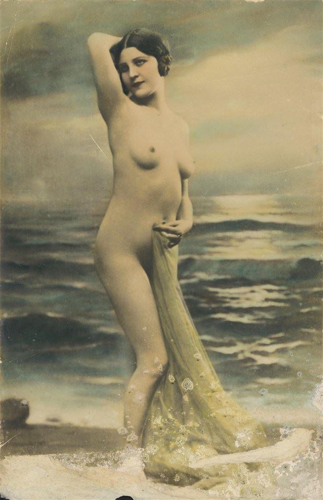 日本時期 維納斯彩繪 日本東京東洋寫真學校時期作品